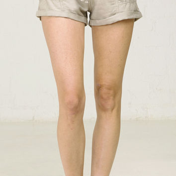 Casual Utility Cuffed Shorts