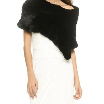 Jocelyn Triangular Fur Shoulder Scarf