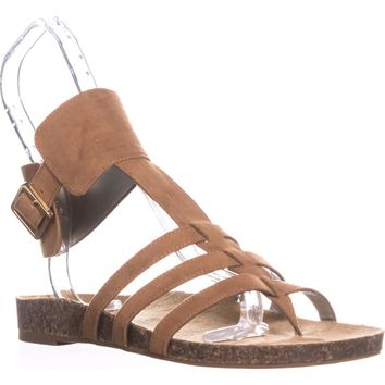 Circus by Sam Edelman Katie Ankle Strap Flat Sandals, Saddle, 6.5 US / 36.5 EU