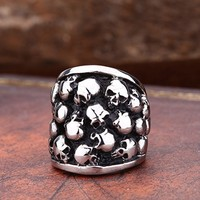 Skull Stack Stainless Steel Ring