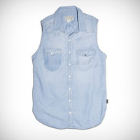 Womens Sleeveless Tencel Button Down - Converse