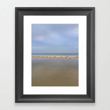"""Peace..."" Lake, sand, sea and sky... Framed Art Print by Guido Montañés"