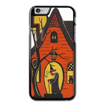 Halloween Witch And House iPhone 6 Hard Case (4.7 Inch) - Custom iPhone 6 Cases (4.7 Inch)
