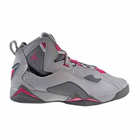 Nike 342774-018 : Jordan Kid True Flight GG Wolf Grey Pink Basketball Shoe (8 Big Kid M)