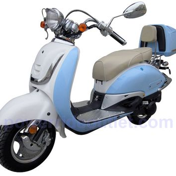 Roketa MCR-16K-150 4 Stroke 150cc Scooter with Aluminum Rims, 95% Assmebled Package (Free Rear Trunk)