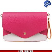 Colorful envelope clutch
