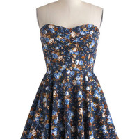 Traveling Cupcake Truck Dress in Navy Florals