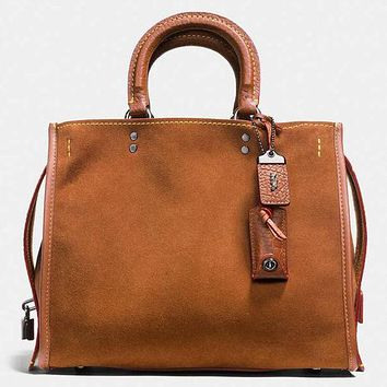 COACH Shopping Tote Handbag Shoulder Leather Bag For Women Brown G