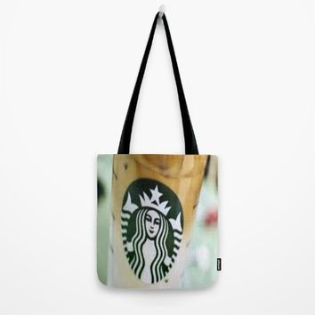 Iced Coffee Starbucks cup photo Tote Bag by Jessica Ivy