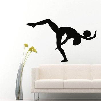 Wall Decals Girl Gymnast With A Ball Sport Gymnastics People Home Vinyl Decal Sticker Kids Nursery Baby Room Decor kk505