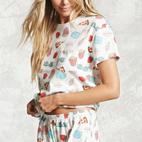 Popcorn Graphic PJ Set