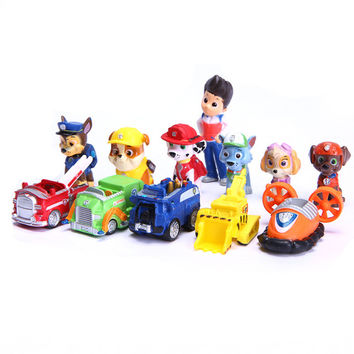 12 PCS Kids Toys Ryder Dogs Action Figures Patrulla Canina Toy Puppy Patrolling For Children Boy Little Gift Patrulla De La Pata
