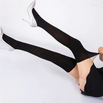 1pcs Girl Women Sexy Sheer Splice Patchwork thigh high Stocking Pantyhose Fashion Over the Knee Tattoo Tights best selling