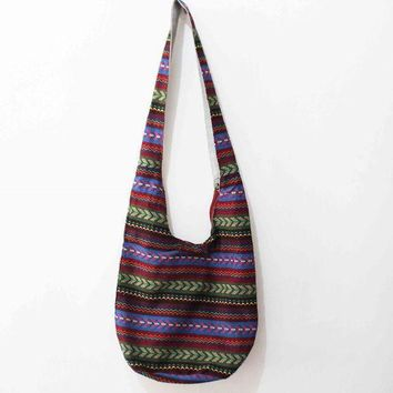 CREYON Day First Vintage Shoulder Bag Aztec Hippie Hippy Gypsy Boho Tribal Big Oversized Woven Hobo Sling Crossbody Bag