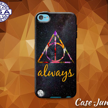 Always Deathly Hallows Symbol Harry Potter Inspired Galaxy Custom Case For iPod Tough 4th Generation Gen And iPod Touch 5th Generation Gen