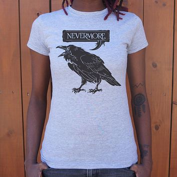 Nevermore Raven [Edgar Allan Poe Inspired] Women's T-Shirt