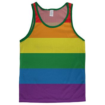 Gay Pride Rainbow Flag Adult Mesh Jersey
