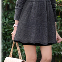 Loose Pleated Knit Dress