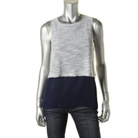 Casual Couture Womens Georgette Knit Tank Top