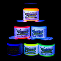 Glominex AH921 Glow in the Dark Body and Face Paint 1oz Jars - Assorted Colors 6ct