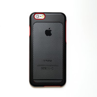 sevenmilli DieSlimest MESH Red(P) Black Hexa for Apple iPhone 6 Premium Design Case