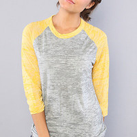 Alternative Apparel The Big League Baseball Tee in Grey Heather and Yellow : Karmaloop.com - Global Concrete Culture