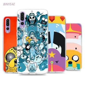 BINYEAE Adventure Time BMO Jake Style Clear Soft TPU Phone Cases for Huawei P20 Lite Honor 9 8 Lite 7X 6A 6X 6C Pro
