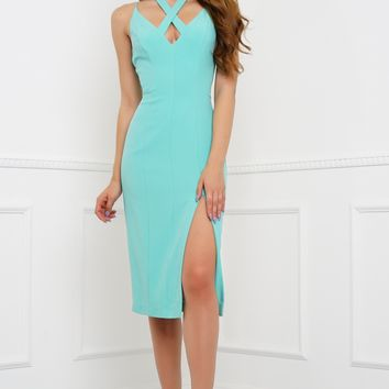 Orla Midi Dress - Jade