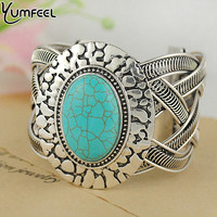 Tibetan Sivler with Turquoise Bracelets Fashion Turquoise Jewelry for Women