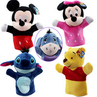 Hot Selling 24cm Child Cute Plush Cartoon Animals Hand Puppet Creative Designs Learning Aid Toys For Kid Gift For Child Birthday