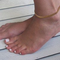 Delicate Gold Arrow Anklet - Gold Ankle Bracelet - Arrow Ankle Bracelet - Gold Anklet - Unique Anklet