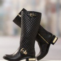 Quilted Motorcycle Boot | Boston Proper