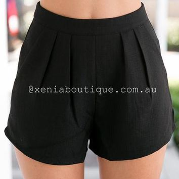 * Porcelain Princess Shorts (Black) | Xenia Boutique | Women's fashion for Less - Fast Shipping