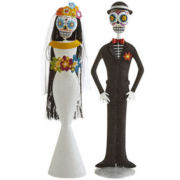 Glitter Day of the Dead Bride & Groom