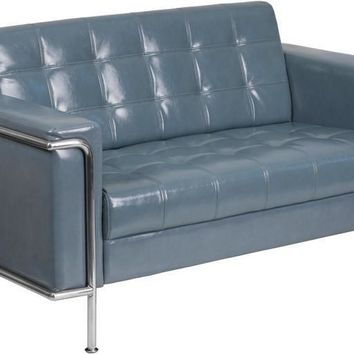 Lesley Series Contemporary Loveseat with Encasing Frame