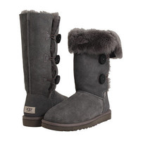 UGG Bailey Button Triplet Grey Sheepskin - Zappos.com Free Shipping BOTH Ways