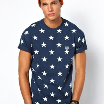 10 Deep T-Shirt Night Work Stars Back Logo at asos.com