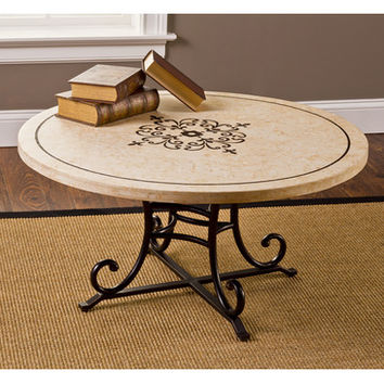 Hillsdale Belladora Round Coffee Table in Copper Gold