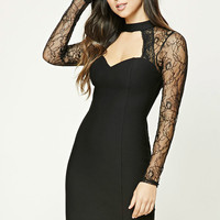Lace-Panel Cutout Dress