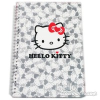 Hello Kitty Clear Cover Spiral Notebook : Face $7.99