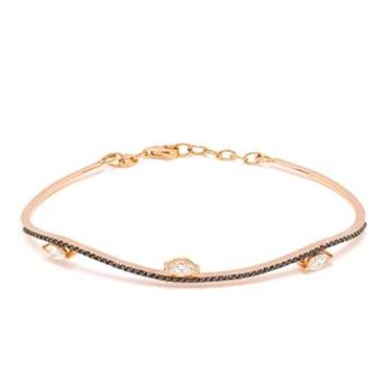 JAPSIS JEWELLERY | 18k Gold Bracelet with White Diamonds | brownsfashion.com | The Finest Edit of Luxury Fashion | Clothes, Shoes, Bags and Accessories for Men & Women