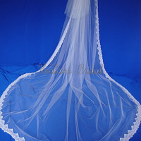 Vintage Lace Wedding Veil Cathedral Veil by Hoalanebridal on Etsy