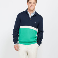 Men's Sweaters: Hull Stripe 1/4-Zip Sweater for Men - Vineyard Vines