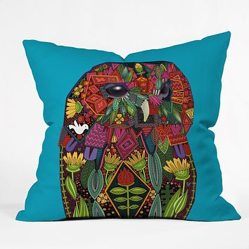 Sharon Turner Tawny Owl Throw Pillow