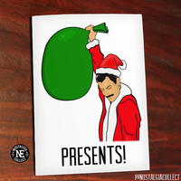 Christmas Presents! Funny Meme Card - Victory Meme - Freddie Mercury Card Queen - 4.5 X 6.25 Inches - Happy Holidays