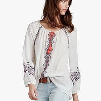 Multi Embroidered Peasant | Lucky Brand