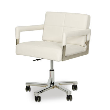 Modrest Alaska - Modern White Leatherette Office Chair