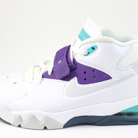 Nike Men's Air Force Max White/Purple/Aqua Basketball Shoes 555105 101