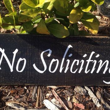 12x4 No Soliciting Wood Sign