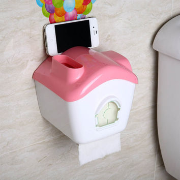 Ring Waterproof Box Creative Washroom Rack Tissue Box [6284139526]
